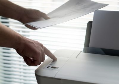 person using office printer